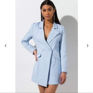 BRAND NEW blazer dress blue small akira